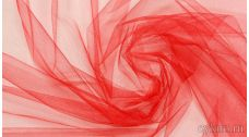 Ткань Фатин Средней Жесткости алый