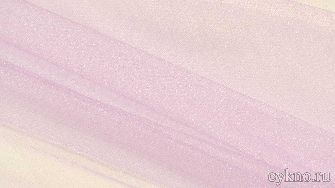 Ткань Фатин Средней Жесткости нежного сиреневого цвета