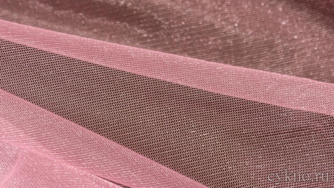 Ткань Фатин Средней Жесткости светло-розовый