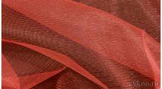 Ткань Фатин Средней Жесткости кораллового цвета