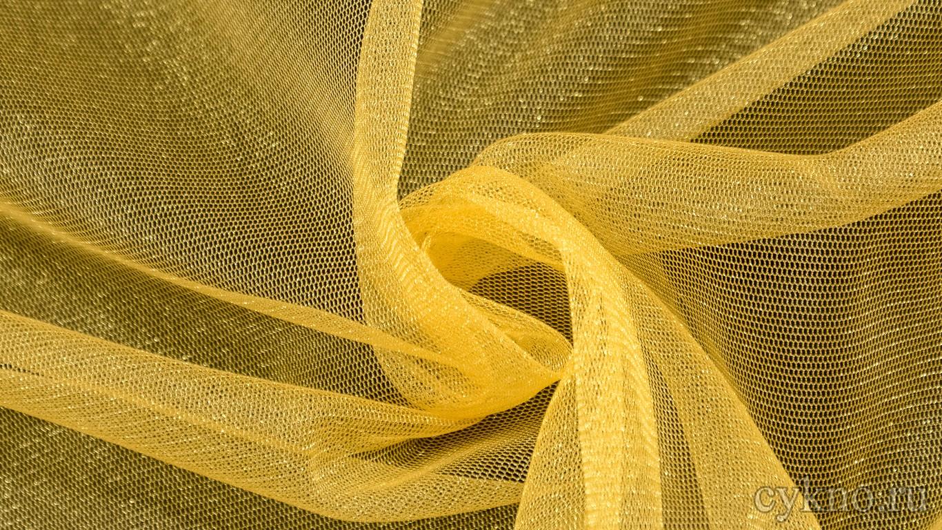 Ткань Фатин Средней Жесткости солнечный желтый