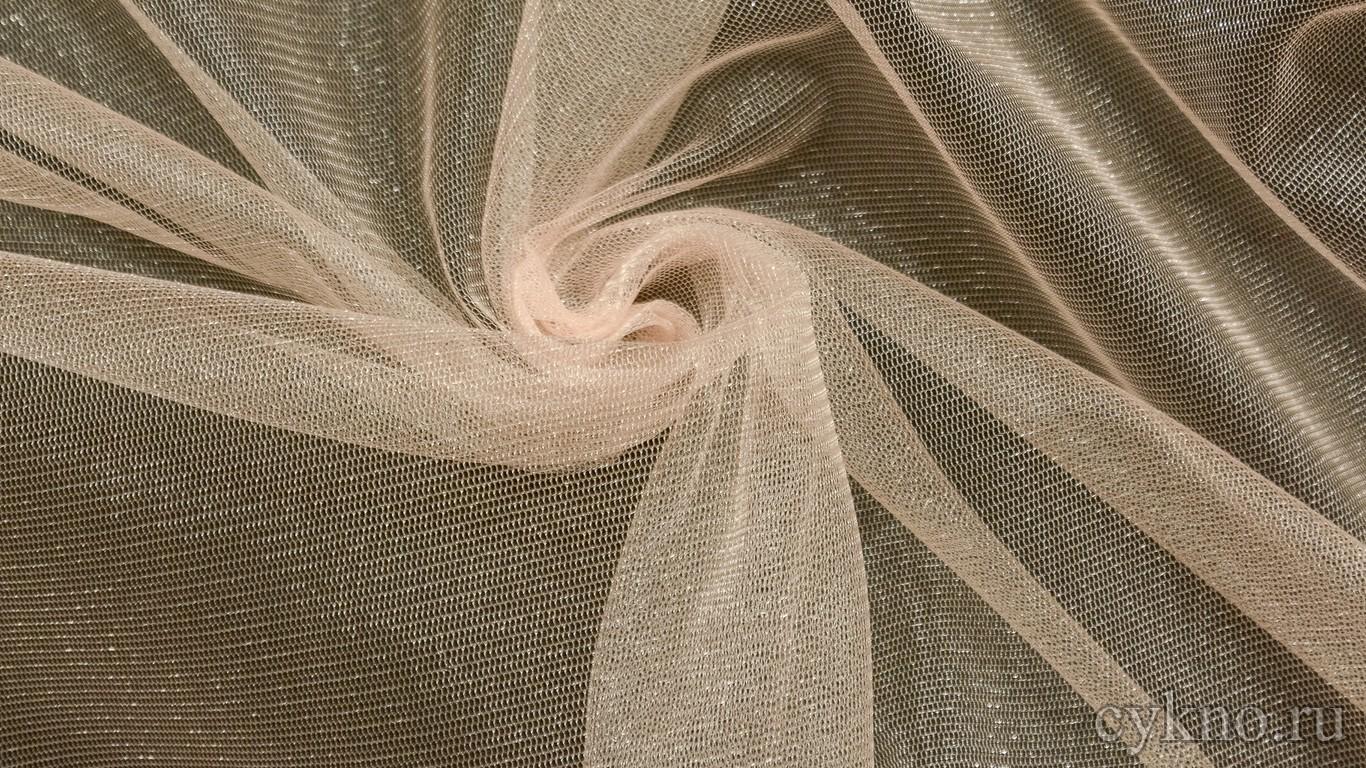 Ткань Фатин Средней Жесткости кремового цвета