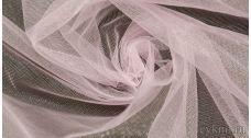 Ткань Фатин Средней Жесткости нежного розового цвета