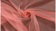 Ткань Фатин Средней Жесткости розового цвета с оттенком кремового
