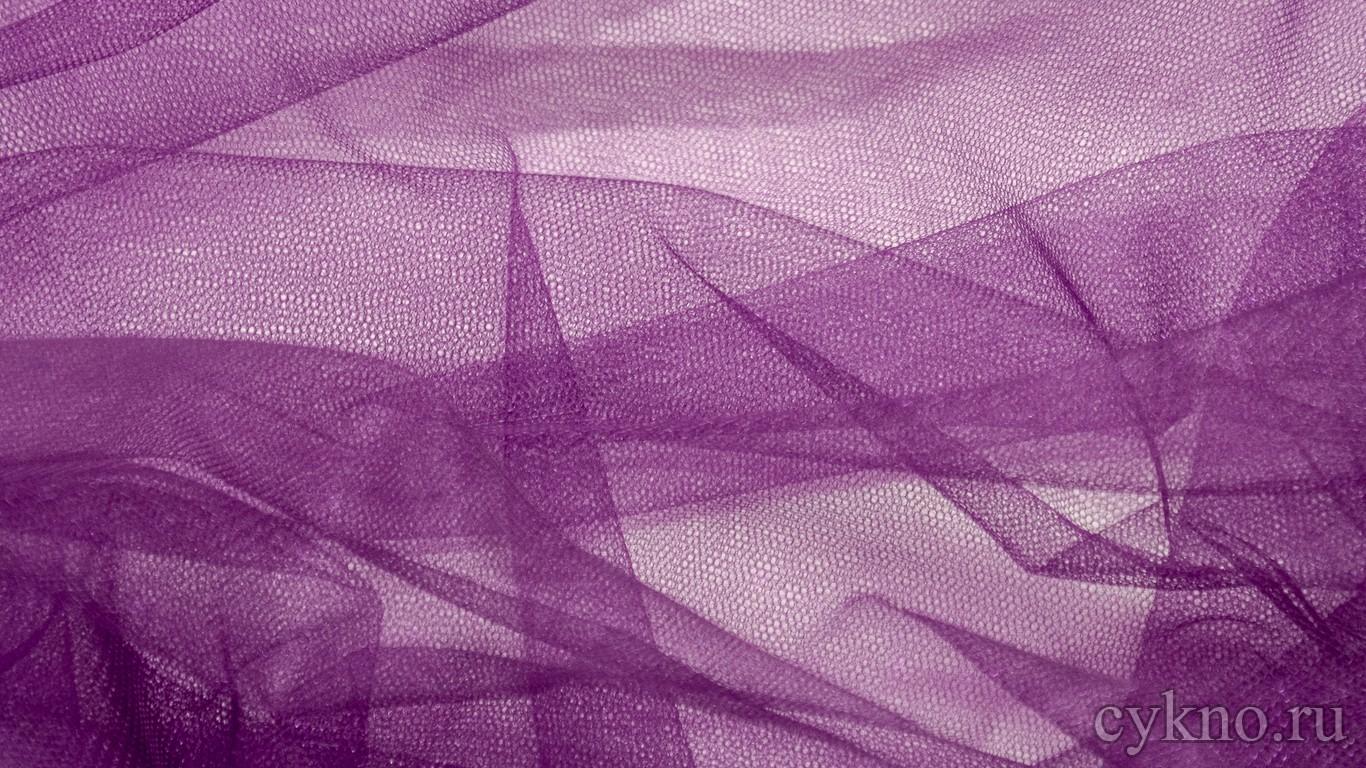 Ткань Фатин Средней Жесткости сливовый
