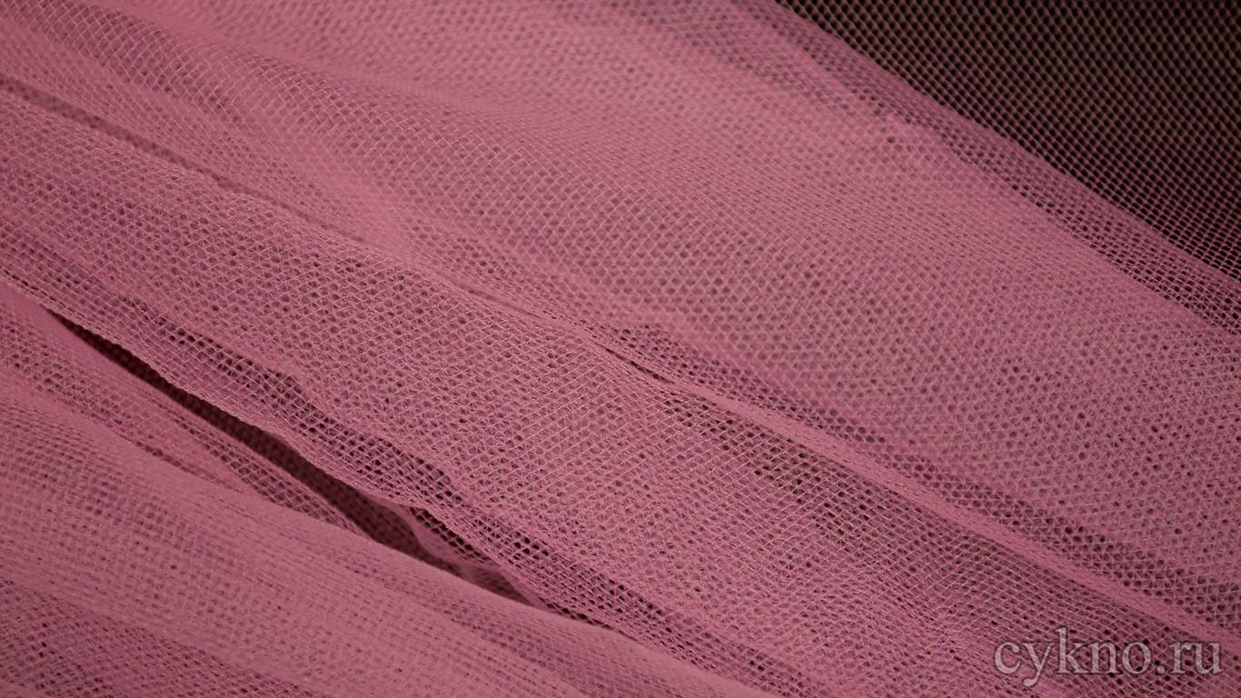 Ткань Сетка Мягкая Розового цвета с сиреневым оттенком