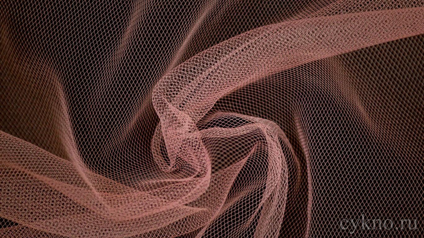 Ткань Сетка Мягкая Персиковая