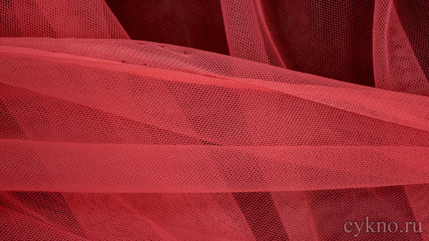 Ткань Сетка Мягкая Насыщенно-розового цвета