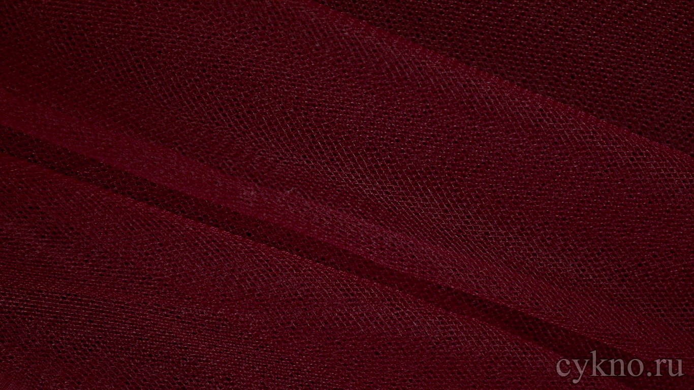 Ткань Сетка Мягкая Бордовая
