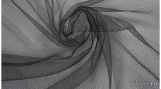 Ткань Сетка Мягкая Темно-серая