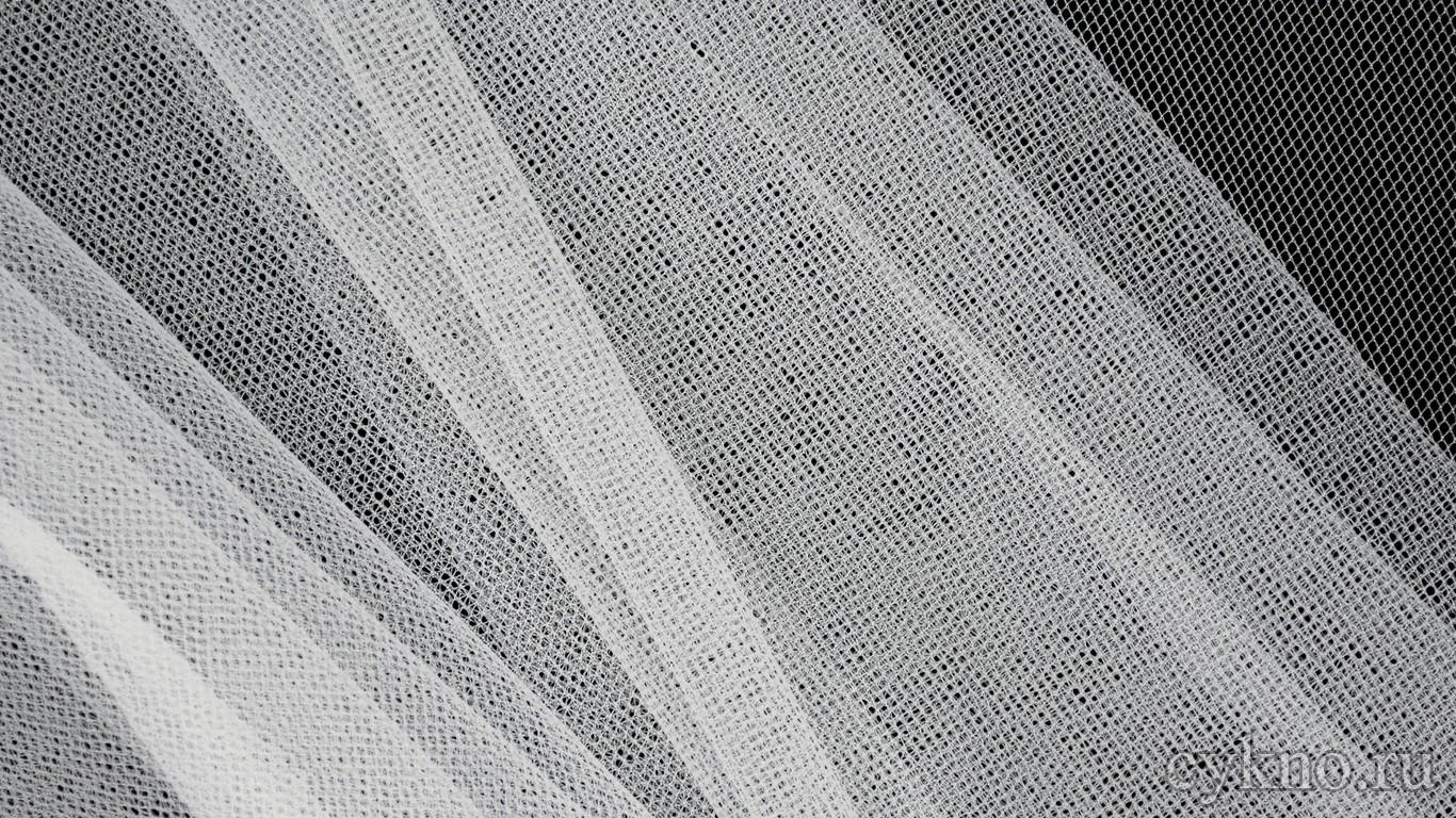 Ткань Сетка Мягкая Белая