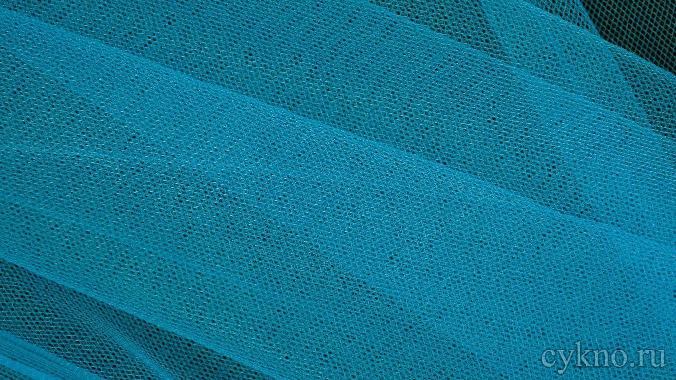 Ткань Сетка Мягкая Голубая неоновая
