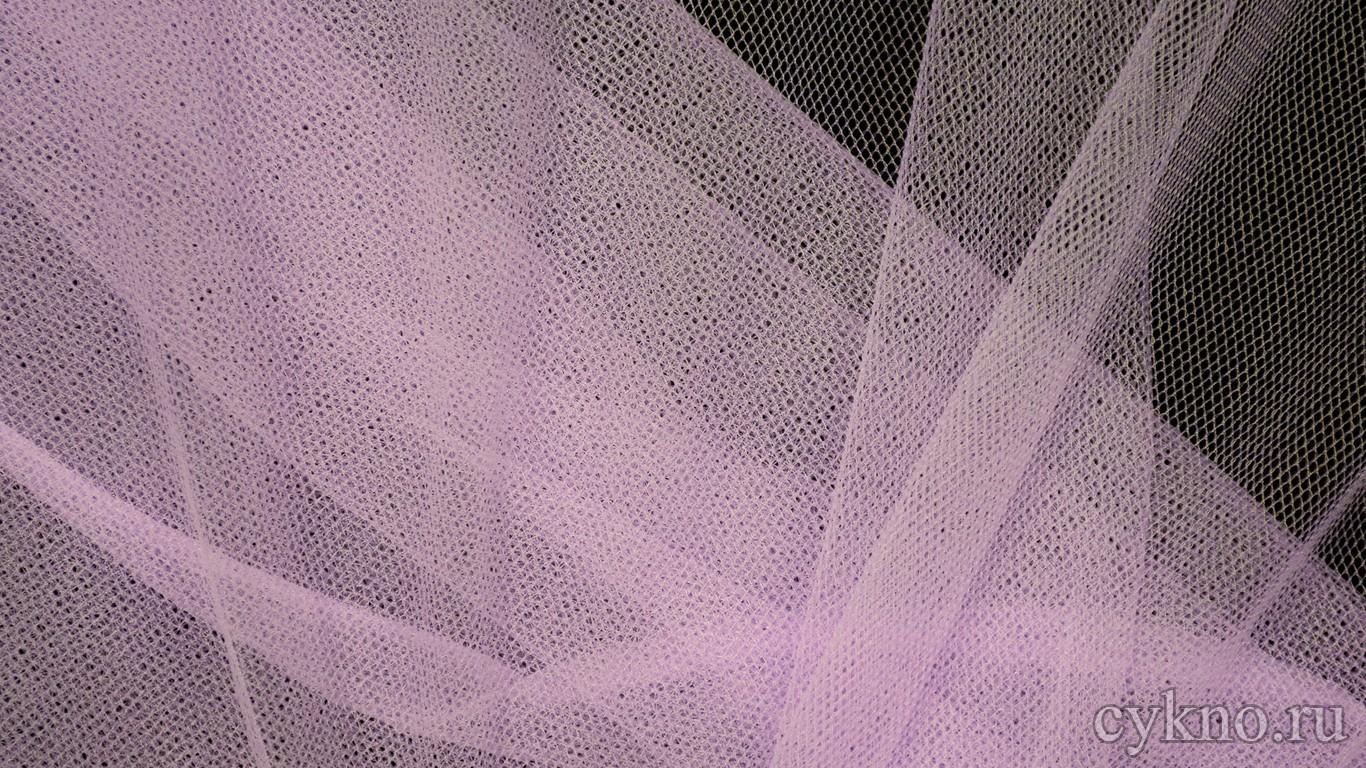 Ткань Сетка Мягкая Светло-сиреневая