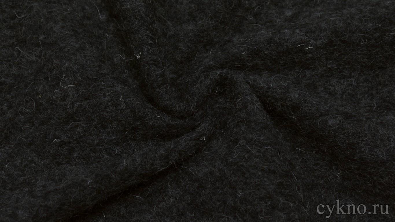 """Ткань Трикотаж Шерстяной темный с ворсом """"Дерута"""""""