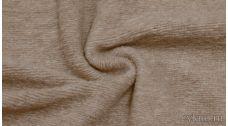 Ткань Трикотаж Шерстяной вязаный бежевого цвета с розовым оттенком