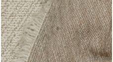 Ткань Трикотаж Шерстяной букле в бежевом цвете