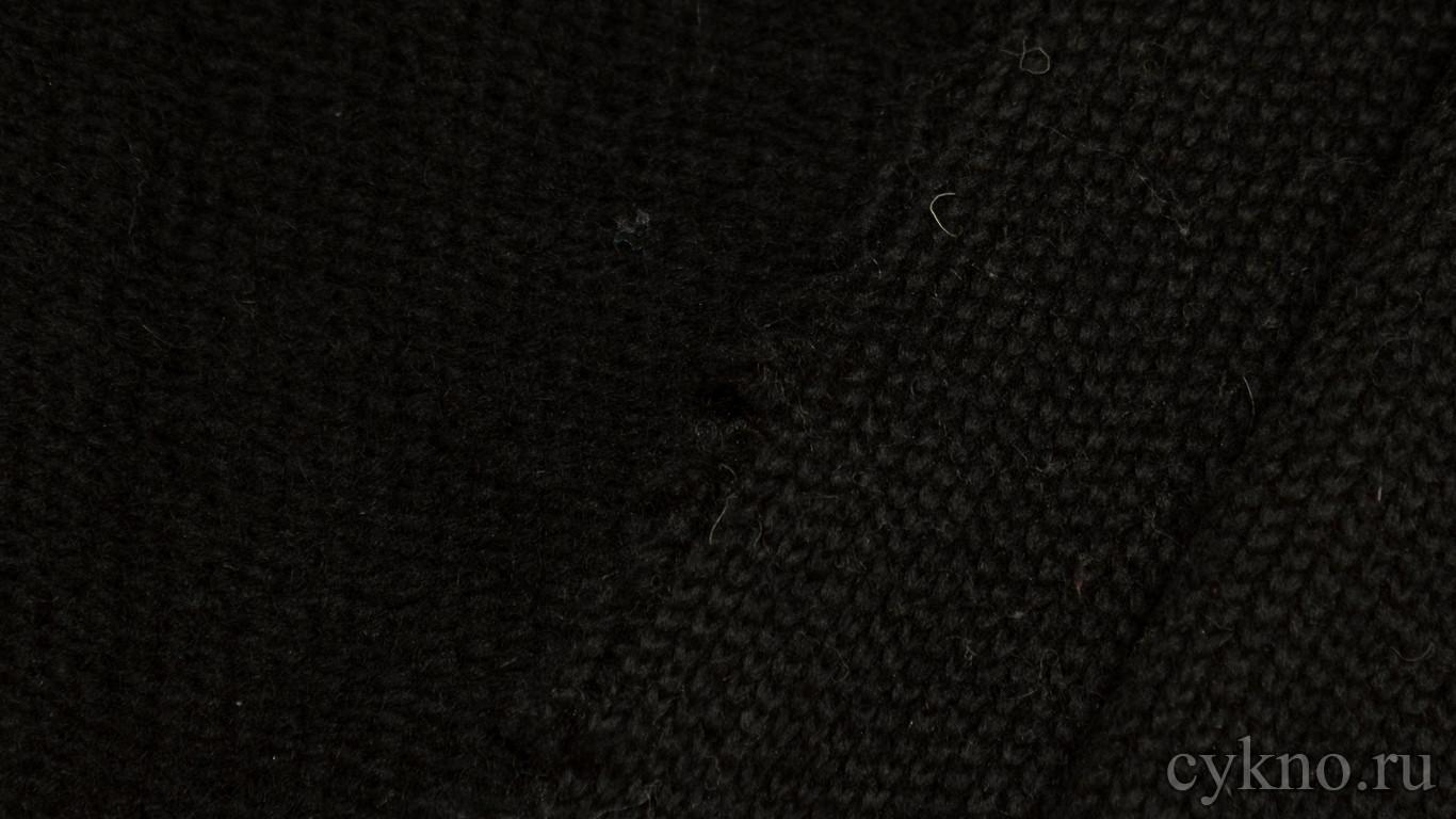 Ткань Трикотаж Шерстяной вязаный в черном цвете