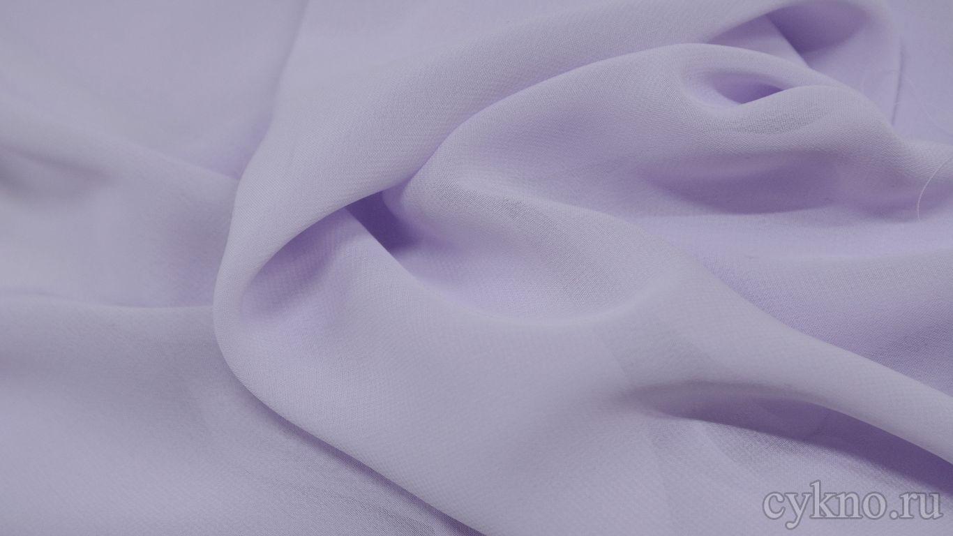 Шифон бледно-сиреневый