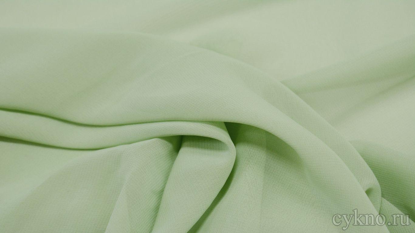 Шифон пастельно-зеленый
