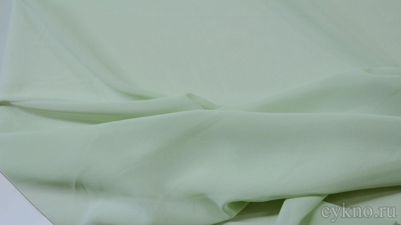 Шифон тонкий бледно зеленый