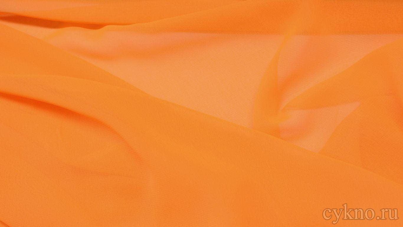 Шифон оранжевый