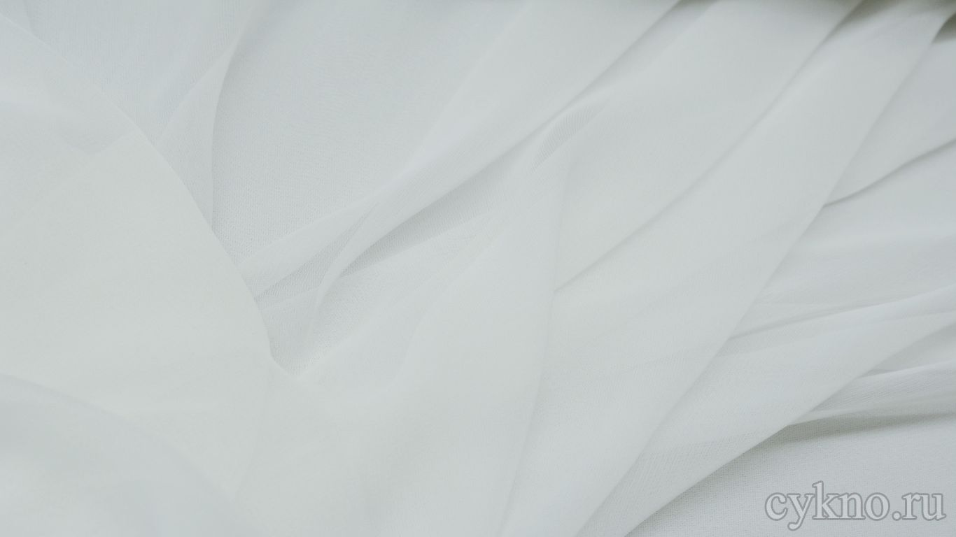 Шифон белого цвета