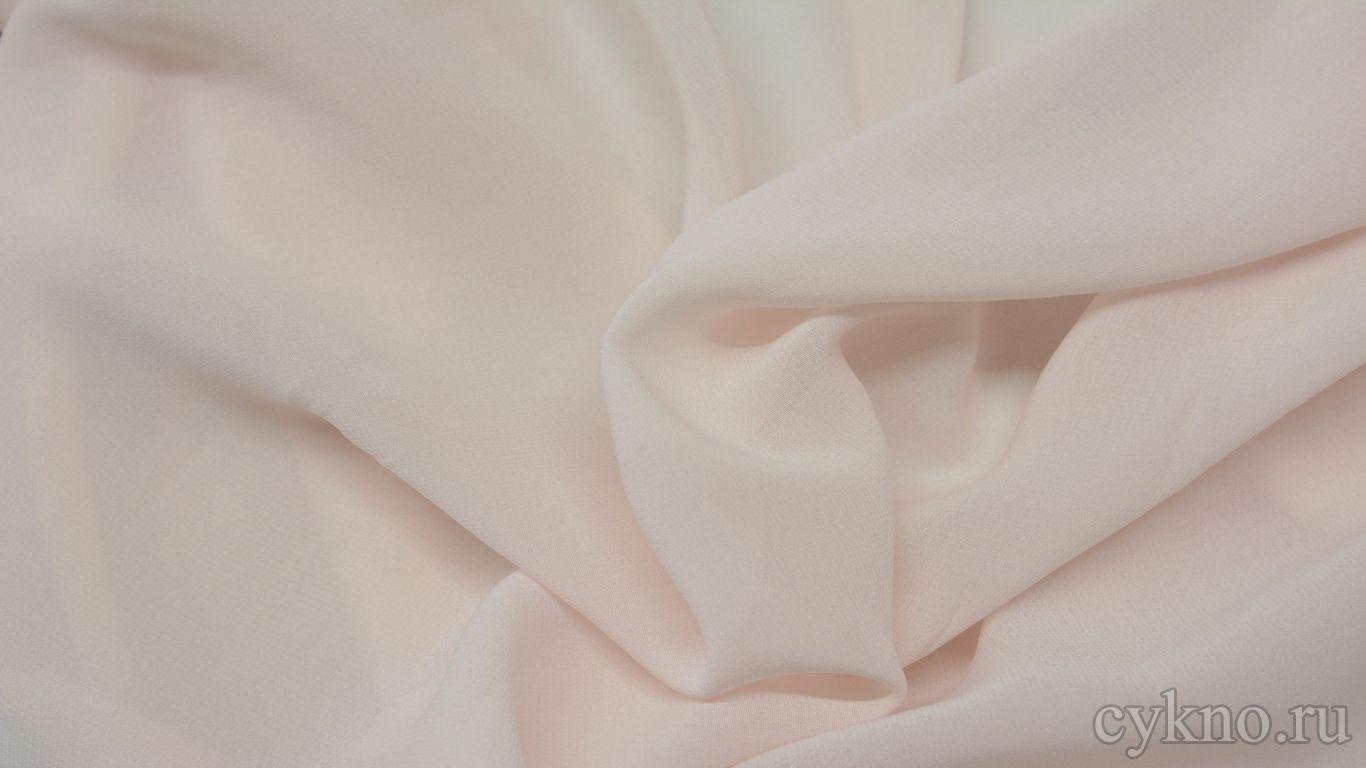 Шифон бледно-розового оттенка