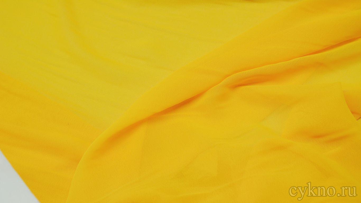 Шифон желтый солнечный