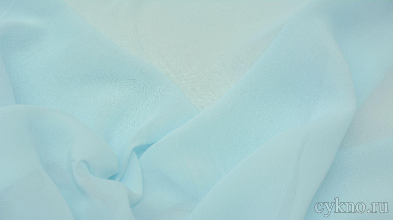 Шифон бледно-голубой