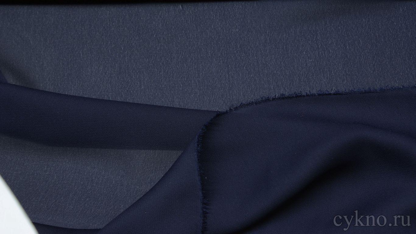 Шифон фиолетово-синий