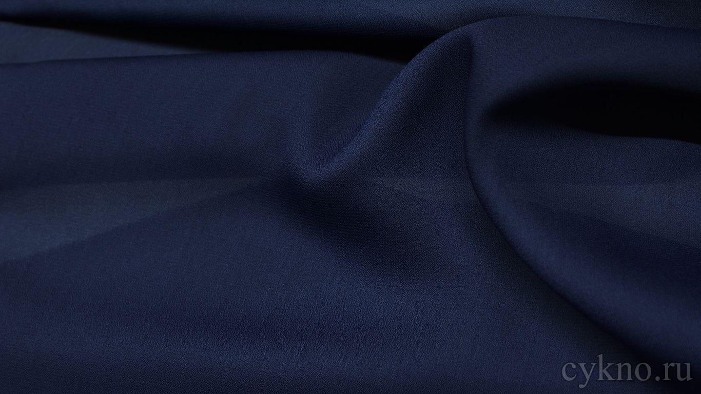 Шифон чернильный синий