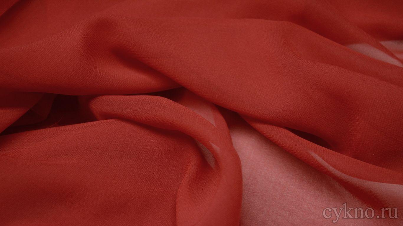 Шифон кирпично-красного цвета