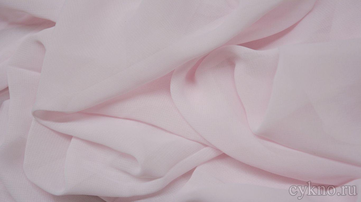 Шифон бледно-розовый