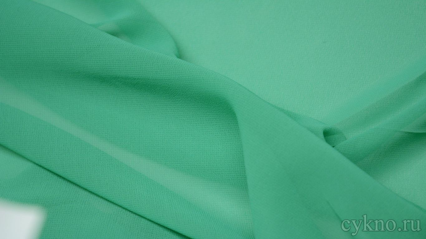 Шифон цвета молодой зелени