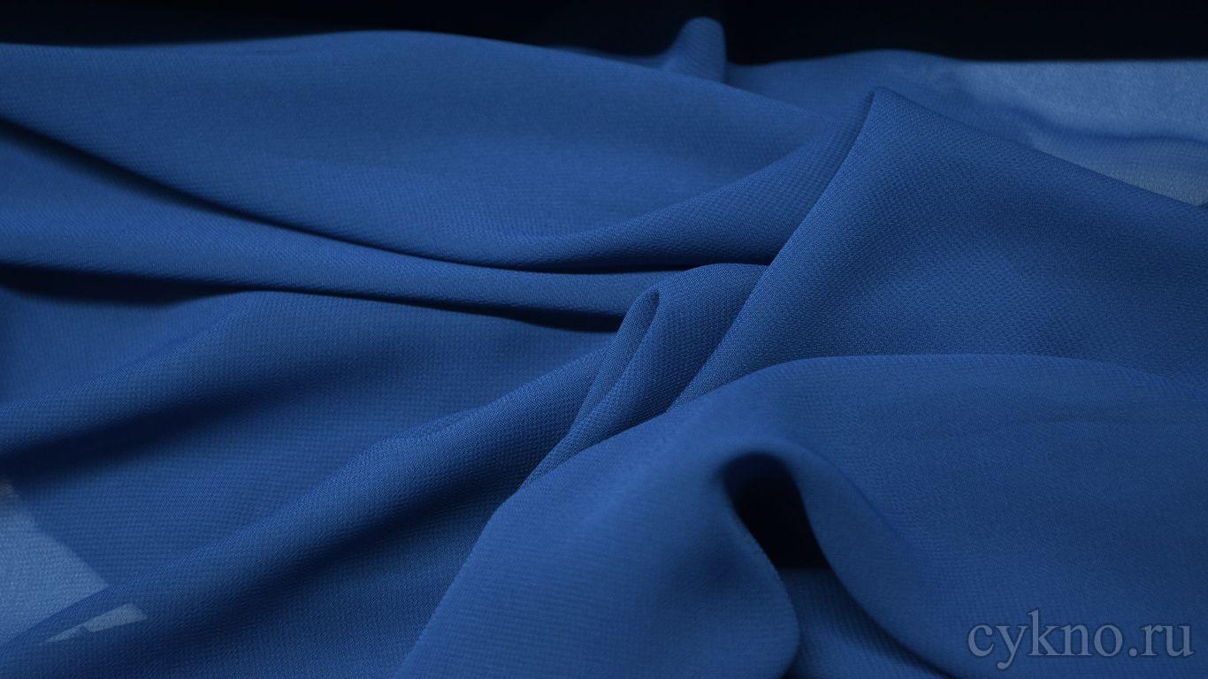 Шифон синий