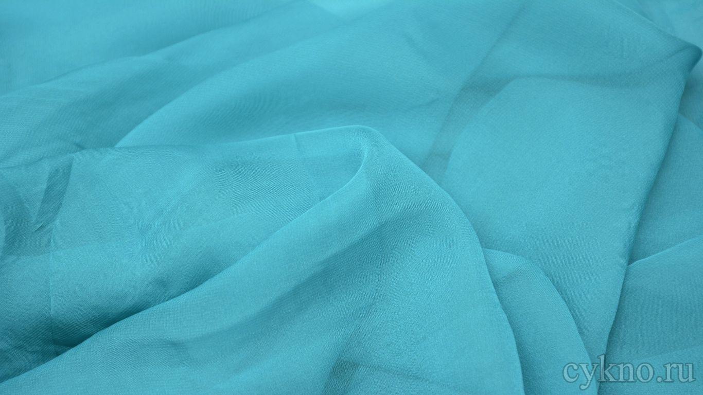 Шифон небесно-голубой