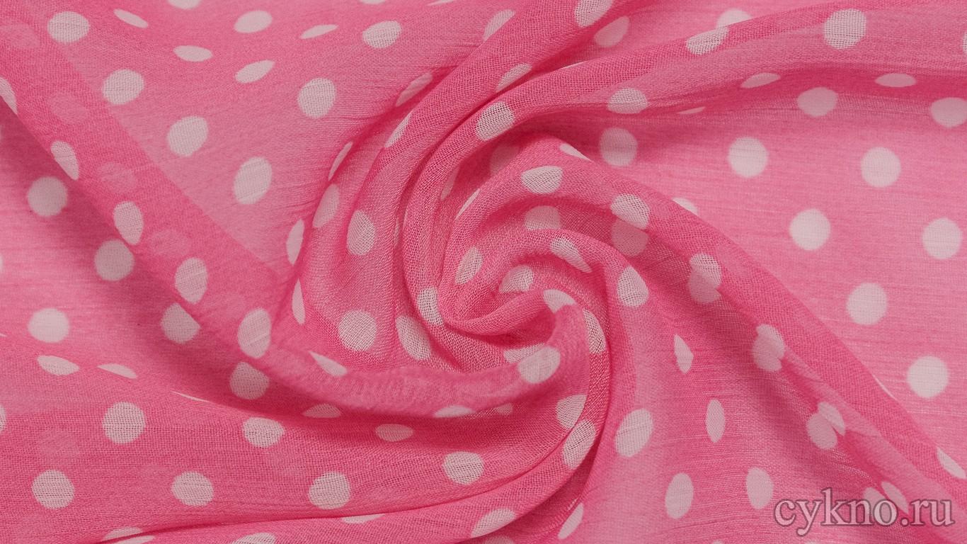 Шифон Набивной Розовый