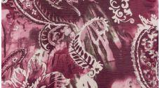 Шифон Набивной Розово-лиловый