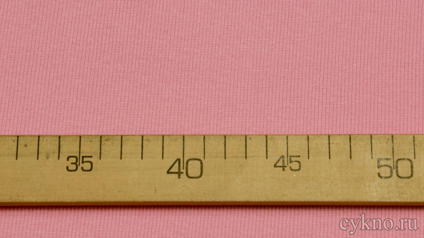 Ткань Трикотаж хлопковый бледно-розовый