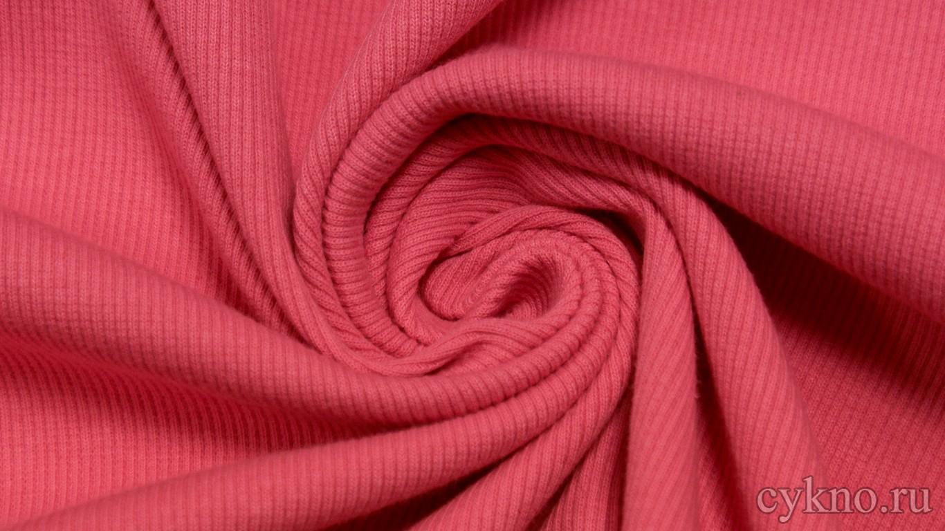 Ткань Трикотаж хлопковый насыщенный розовый цвет