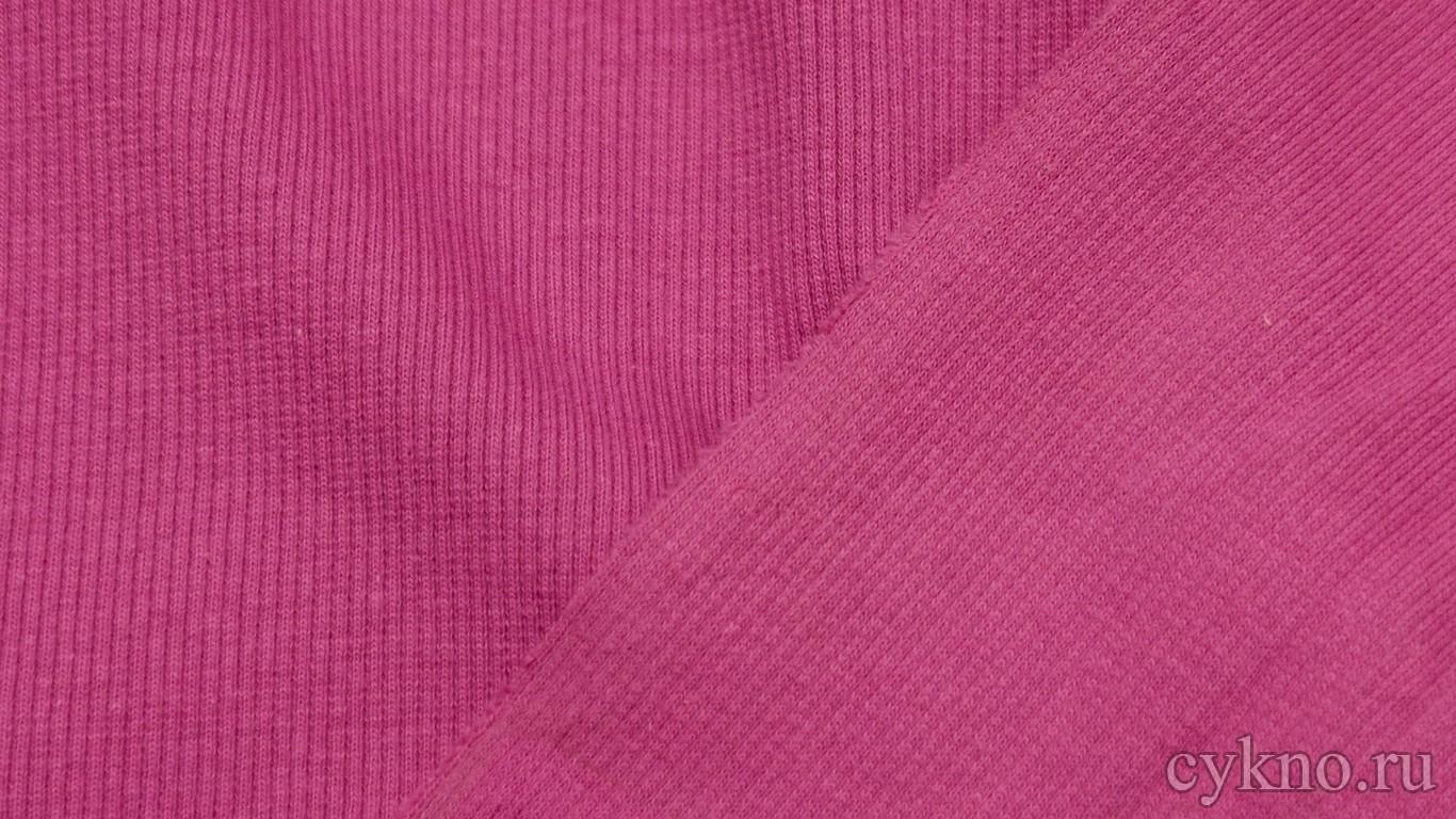 Ткань Трикотаж хлопковый однотонный малинового цвета