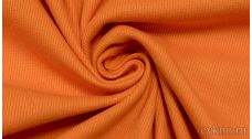 Ткань Трикотаж хлопковый однотонный светлый оранжевый