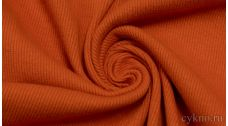 Ткань Трикотаж хлопковый однотонный рыжего цвета