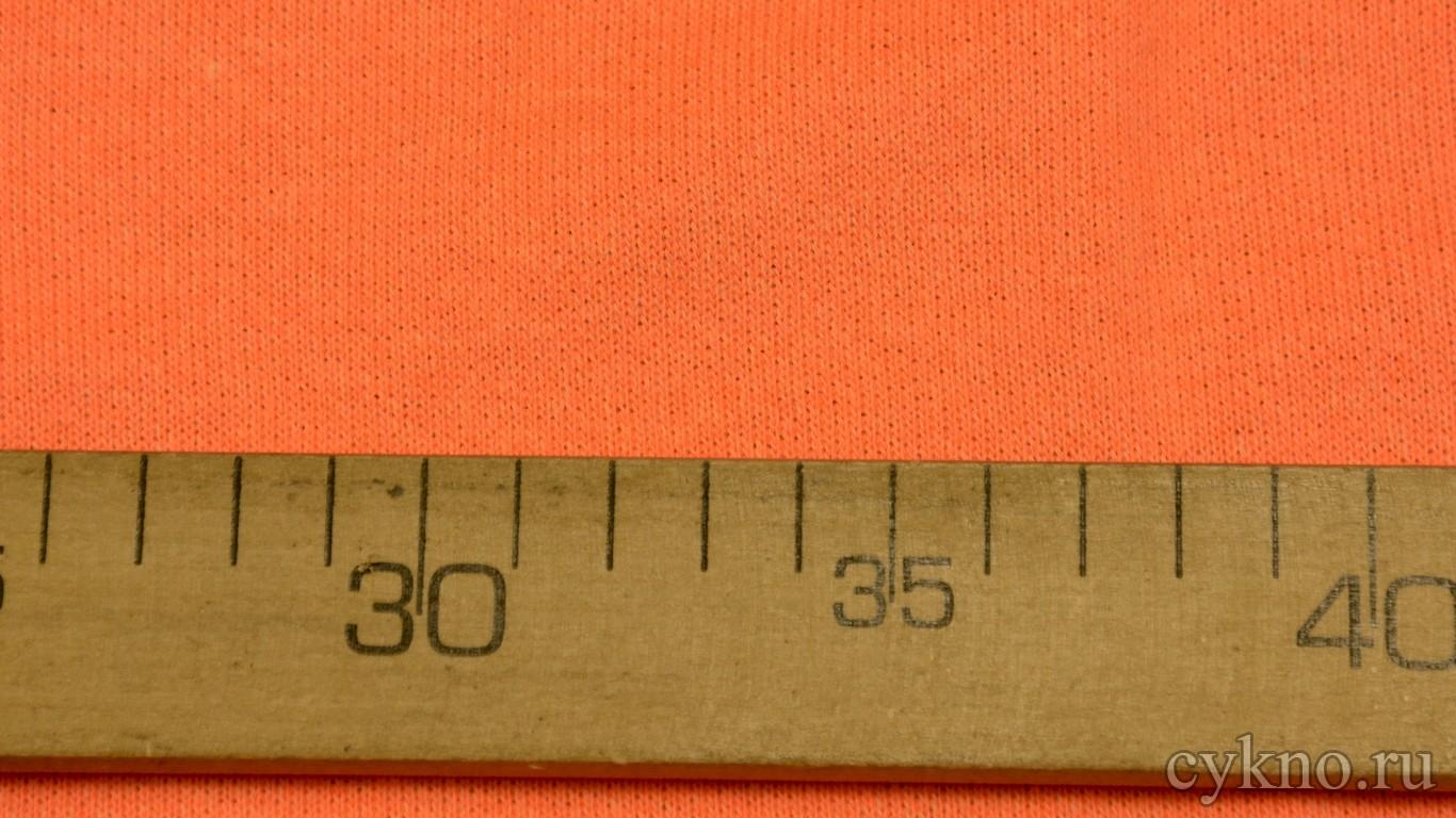 """Ткань Трикотаж хлопковый оранжевого цвета """"Лаванья"""""""