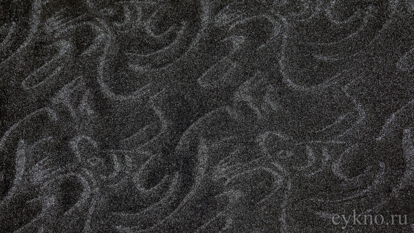 """Ткань Трикотаж в темно-серых тонах """"Губбио"""""""