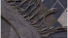 """Ткань Трикотаж с принтом """"Ромбы"""" в серо-синих тонах"""