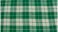 Ткань Пальтовая клетка бело-зеленая