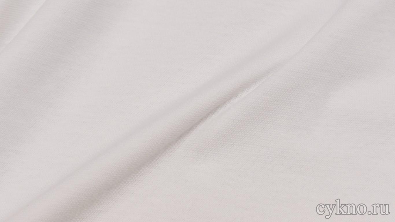 Ткань Трикотаж Чулок белый