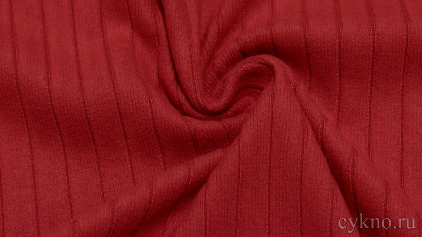 Ткань Трикотаж терракотового цвета с розовым оттенком