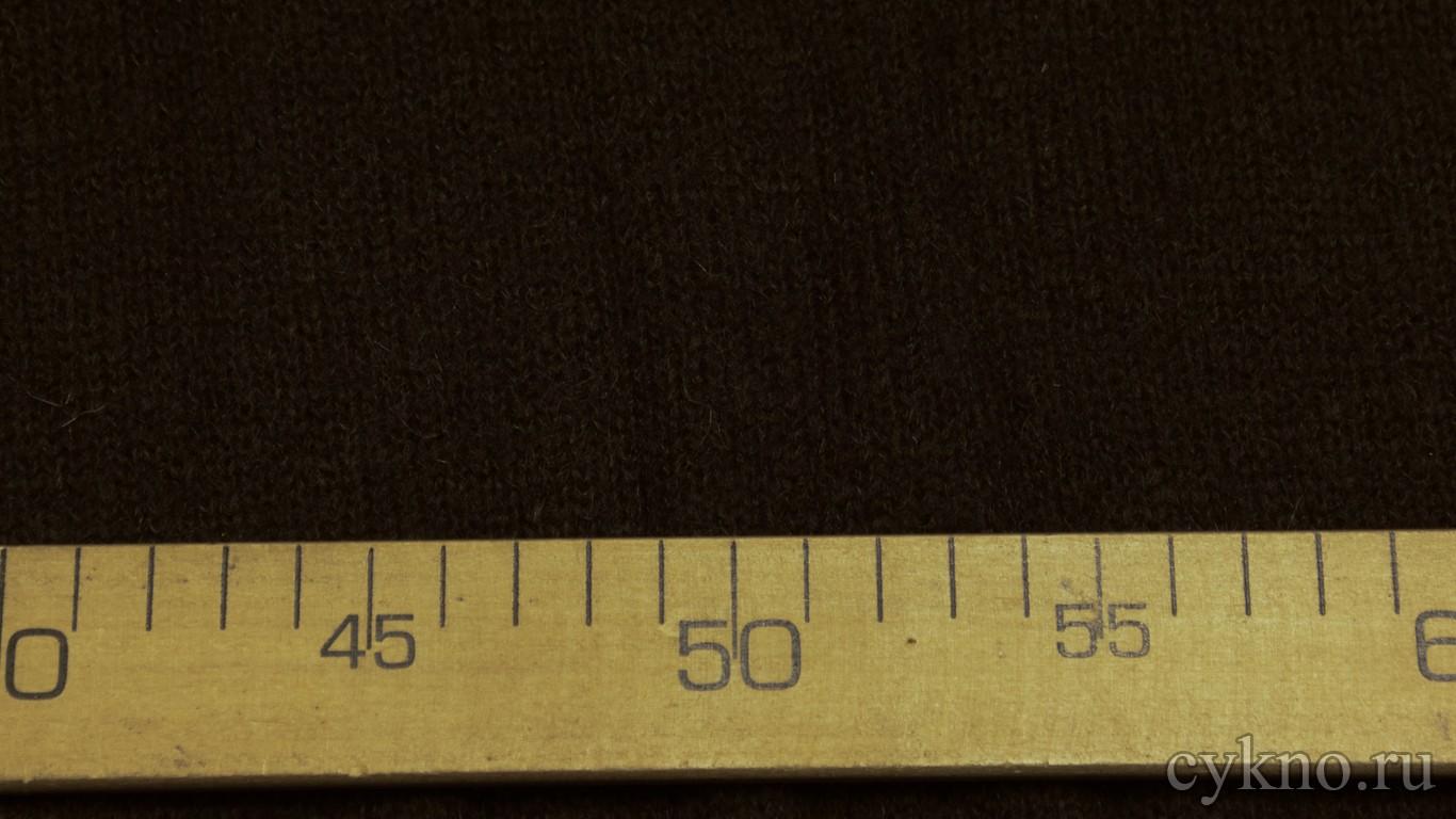 Ткань Трикотаж темно-коричневого цвета с добавлением шерсти